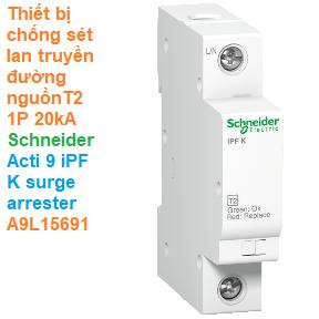 Thiết bị chống sét lan truyền đường nguồn T2 1P 20kA -Schneider - Acti 9 iPF K surge arrester A9L15691