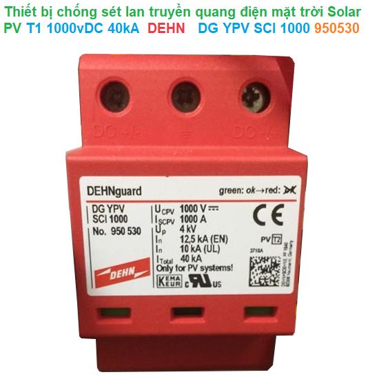 Thiết bị chống sét lan truyền quang điện mặt trời Solar PV T2 1000vDC 40kA - DEHN - DG YPV SCI 1000 950530