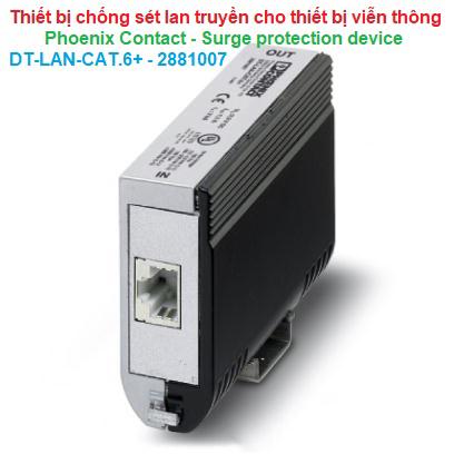 Thiết bị chống sét lan truyền bảo vệ thiết bị viễn thông -Phoenix Contact -DT-LAN-CAT.6+ -2881007