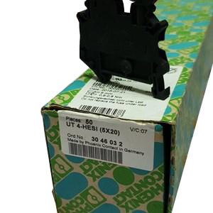 Cầu đấu nối điện có cầu chì  4mm2 500V 10A 5x20 - Phoenix Contact - Fuse modular terminal block - UT 4-HESI (5X20) - 3046032