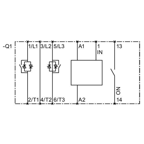 1 Khởi động mềm Soft starter 6.5A 3kW 400V 110-230vAC/DC - Siemens - 3RW3014-1BB14