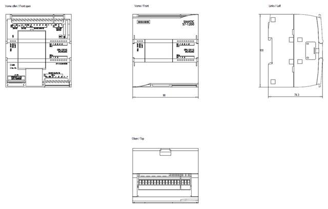 02 Bộ lập trình điều khiển PLC - Siemens - SIMATIC S7-1200, CPU 1211C 6ES7211-1AE40-0XB0
