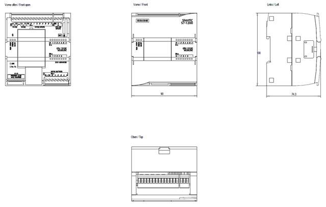 02 Bộ lập trình điều khiển PLC - Siemens - SIMATIC S7-1200, CPU 1212C 6ES7212-1AE40-0XB0