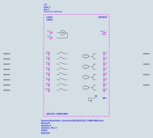 Bộ lập trình điều khiển PLC controller - Siemens - LOGO! 24RCE