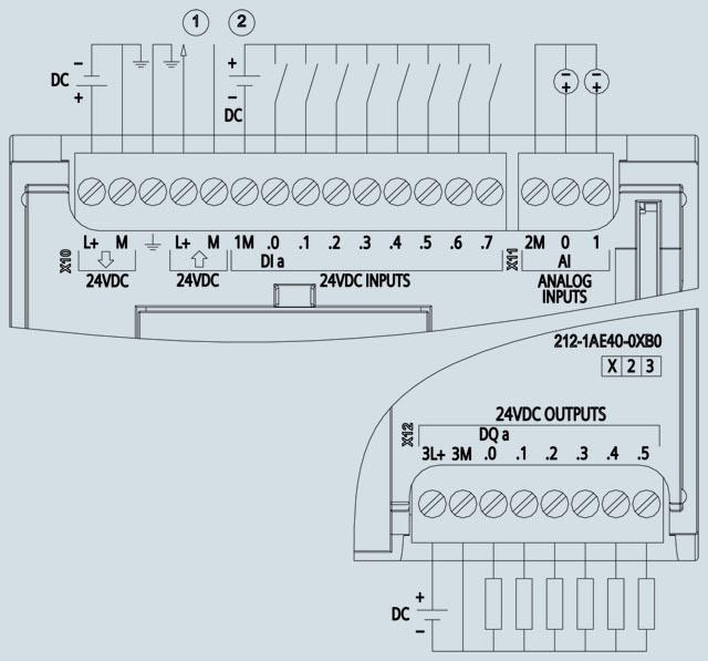 03 Bộ lập trình điều khiển PLC - Siemens - SIMATIC S7-1200, CPU 1212C 6ES7212-1AE40-0XB0