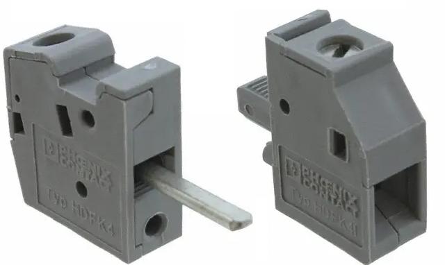03 Cầu đấu nối dây điện gắn trên panel  6mm2 41A - Phoenix Contact - Panel feed-through terminal block - HDFK 4 - 0707086