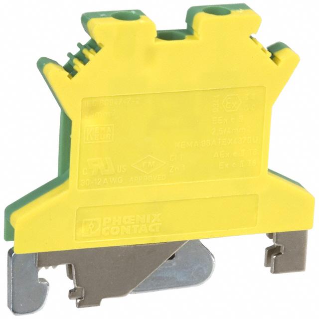 Cầu đấu dây nối đất  2,5mm2 N - Phoenix Contact - Ground modular terminal block - USLKG 2,5 N - 0441119