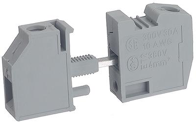 04 Cầu đấu nối dây điện gắn trên panel  6mm2 41A - Phoenix Contact - Panel feed-through terminal block - HDFK 4 - 0707086