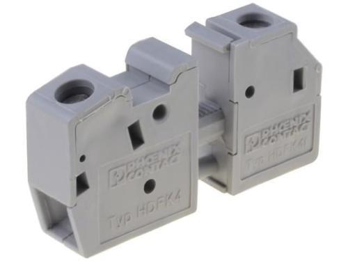 05 Cầu đấu nối dây điện gắn trên panel  6mm2 41A - Phoenix Contact - Panel feed-through terminal block - HDFK 4 - 0707086