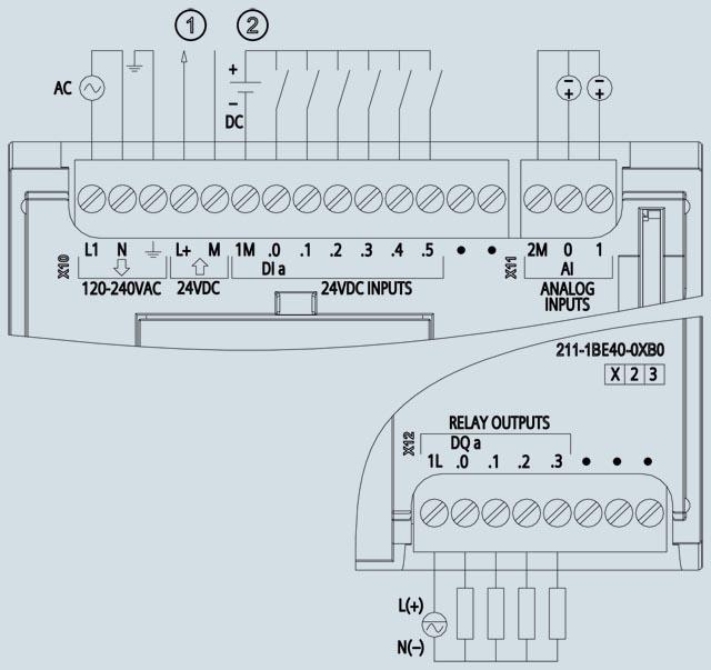 05 Bộ lập trình điều khiển PLC - Siemens - SIMATIC S7-1200, CPU 1211C 6ES7211-1BE40-0XB0