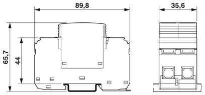 Thiết bị chống sét lan truyền đường nguồn 1P (L, N) T2 40kA  - Phoenix Contact - VAL-MS 230/1+1 - 2804429