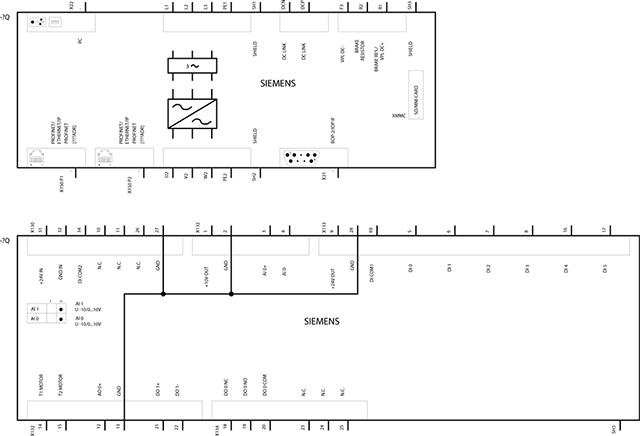 Bản vẽ kỹ thuật Biến tần 132.0kW 3AC 380-480V 47-63Hz - Siemens - SINAMICS G120C 6SL3210-1KE32-4AF1