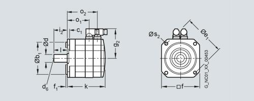 Bản vẽ kỹ thuật Động cơ Servo - Siemens - SIMOTICS S-1FK7 Servo motors 1FK7101-5AC71-1UA0