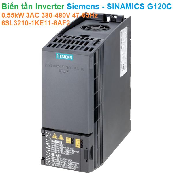 Biến tần Inverter Siemens - SINAMICS G120C 0.55kW 3AC 380-480V 47-63Hz - 6SL3210-1KE11-8AF2
