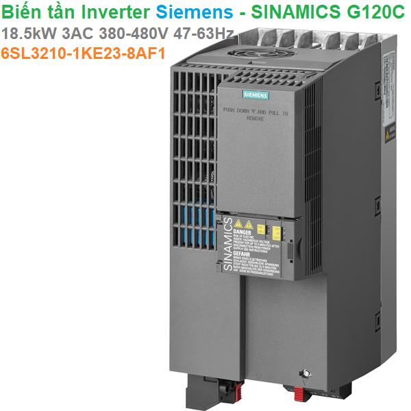 Biến tần Inverter Siemens - SINAMICS G120C 18.5kW 3AC 380-480V 47-63Hz -6SL3210-1KE23-8AF1