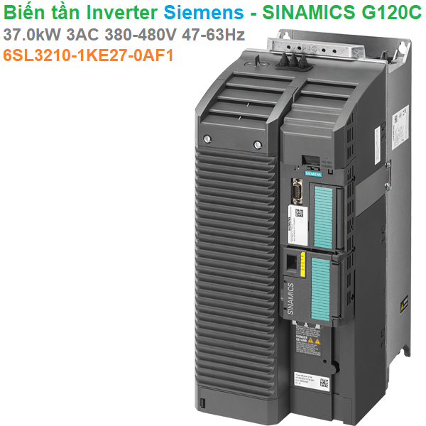 Biến tần Inverter Siemens - SINAMICS G120C kW 37.0AC 380-480V 47-63Hz -6SL3210-1KE27-0AF1