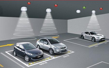 Cảm biến chuyển động tự động tăng-giảm độ sáng đèn Automatic dimming motion sensor - Merrytek - MC003V/R điều khiển thiết bị nơi đỗ xe