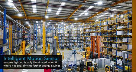 Cảm biến chuyển động tự động tăng-giảm độ sáng đèn Automatic dimming motion sensor - Merrytek - MC003V/R điều khiển thiết bị chiếu sáng và an ninh nhà kho, xưởng