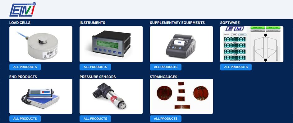Celmi Load cells, Celmi Instruments, Celmi Supplementary equipments, Celmi Software, Celmi End products, Celmi Pressure sensors, Celmi Straingauges