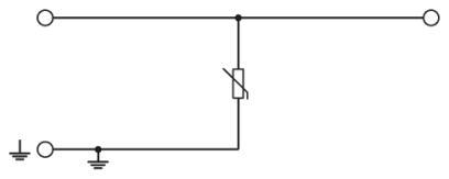 Circuit diagram Cầu đấu dây có chống sét lan truyền - Phoenix Contact - TT-SLKK5/ 48DC - 2794916