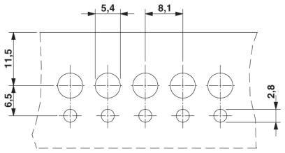 Dimensional 02 Cầu đấu nối dây điện gắn trên panel  6mm2 41A - Phoenix Contact - Panel feed-through terminal block - HDFK 4 - 0707086
