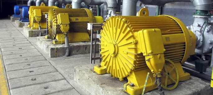 Động cơ điện công suất lớn tạo ra điện áp tăng do dòng điện chuyển đổi cao