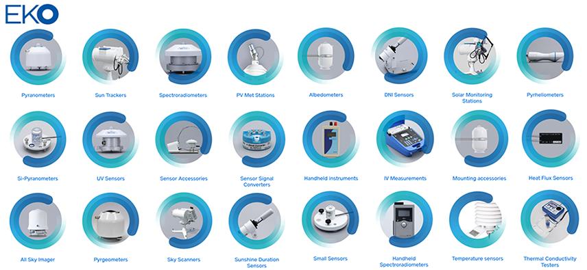 Eko Pyranometers,Eko MS-80S,Eko MS-80,Eko MS-80U,Eko MS-60,Eko MS-60A,Eko MS-60M,Eko MS-60S,Eko MS-40,Eko MS 40A,Eko MS-40S,Eko MS-40M,Eko MS-802,Eko Sun Trackers,Eko STR-21G,Eko STR-22G,Eko STR-32G,Eko Spectroradiometers,Eko MS-700N,Eko MS-711,Eko WISER II,Eko WISER I,Eko MS-711 DNI,Eko MS-712,Eko MS-713,Eko LS-100,Eko RSB-01,Eko PV Met Stations,Eko PVmet-100,Eko PVmet-500-M2,Eko PVmet-500-M4,Eko PVmet-500-M3,Eko PVmet-500-M0,Eko PVmet-500-M1,Eko Albedometers,Eko MS-80S,Eko MS-80,Eko MS-60,Eko MS-60S,Eko MS-40,Eko MS-40S,Eko ML-02,Eko DNI Sensors,Eko MS-90 Plus+,Eko MS-90,Eko Solar Monitoring Stations,Eko STR-21G-S0,Eko STR-21G-S1,Eko STR-21G-S2,Eko Pyrheliometers,Eko MS-57,Eko Si-Pyranometers,Eko ML-01,Eko ML-02,Eko UV Sensors,Eko Sensor Accessories,Eko RSB-01,ko MV-01,Eko RSR-01,Eko Sensor Signal Converters,Eko MC-11,Eko MC-12,Eko MC-20,Eko A-Box-I,Eko A-Box-T,Eko M-Box,Eko C-Box Modbus,Eko USB-S,Eko Handheld instruments,Eko LI-19,Eko IV Measurements,Eko MP-11,Eko MP-160,Eko PV-Blocks,Eko MP-165,Eko MP-180,Eko MI-510,Eko MI-510S,Eko MI-520,Eko MP-303S,Eko MP-303,Eko MI-530,Eko MI-540,Eko MP-410,Eko Mounting accessories,Eko MS-Albedo kit 4,Eko CR-PMO6,Eko MS-Albedo kit MV,Eko MS-Albedo kit MS,Eko All Sky Imager,Eko ASI-16,Eko ASI-16 Basic,Eko Pyrgeometers,Eko MS-20,Eko Sky Scanners,Eko MS-321LR,Eko Sunshine Duration Sensors,Eko MS-90,Eko Small Sensors,Eko ML-020P,Eko ML-020S-O,Eko ML-020S-I,Eko Handheld Spectroradiometers,Eko MS-720,Eko Temperature sensors,Eko MT-052-T,Eko MT-052-A,Eko Heat Flux Sensors,Eko MF-180,Eko HF-10S,Eko MF-180M,Eko HF-30S,Eko Thermal Conductivity Testers, Eko HC-10,Eko HC-121