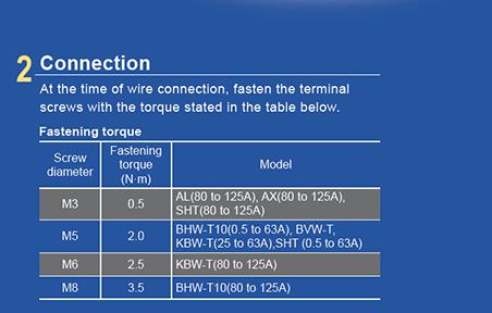 Ghi chú đấu nốiMCB BHW-T10 4P