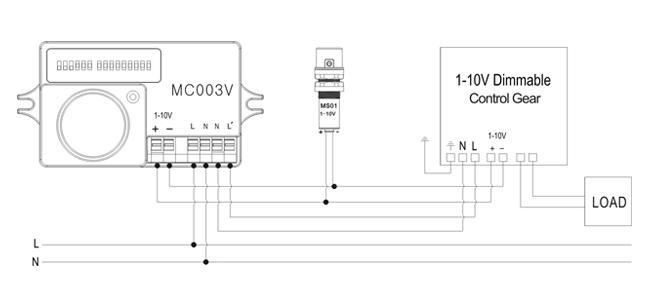 02 Hướng dẫn đấu nối dây Cảm biến chuyển động tự động tăng-giảm độ sáng đèn Automatic dimming motion sensor - Merrytek - MC003V/R