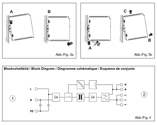 Cách lắp đặt Bộ nguồn 12vDC 5A 1AC, dòng TRIO PEWER, hãng Phoenix Contact