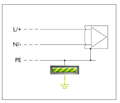 Sơ đồ cung cấp điện của một phần của thiết bị SPD