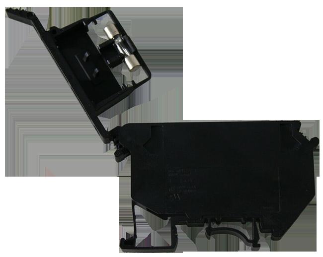 Phoenix Contact UK 5-HESI (5X20) 3004472: Cầu đấu có cầu chì; nối vít, 0.2 mm²- 4 mm², AWG 24-12, 6.3A, 800V, rộng 8.2mm, loại cầu chì G/ 5 x 20, DIN Rail, đen