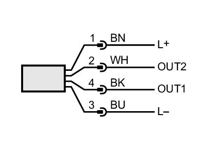 Electrical diagram Cảm biến nhiệt độ có thông số hiển thị Temperature sensor with display - IFM - TN2511 (TN-045KCBD18-MFPKG/US/)